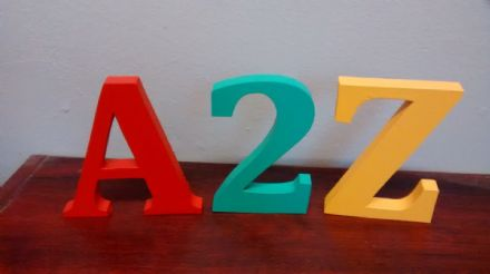 FREE STANDING WOODEN letters large 12 cm,  painted wooden letters and numbers